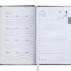Ежедневник А6 карманный датированный 2019 BRILLIANT бордовый, твердая обложка 20577