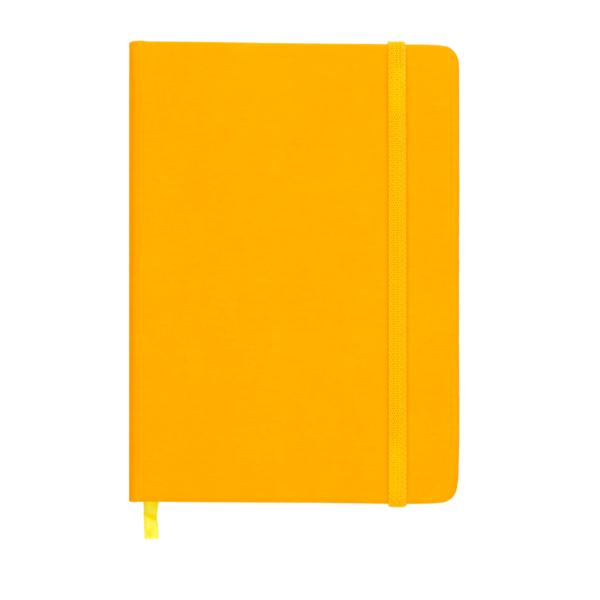 Ежедневник А5 датированный 2019 TOUCH ME желтый, на резиночке