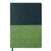 Ежедневник А5 датированный 2019 QUATTRO т-зеленый и св-зеленый