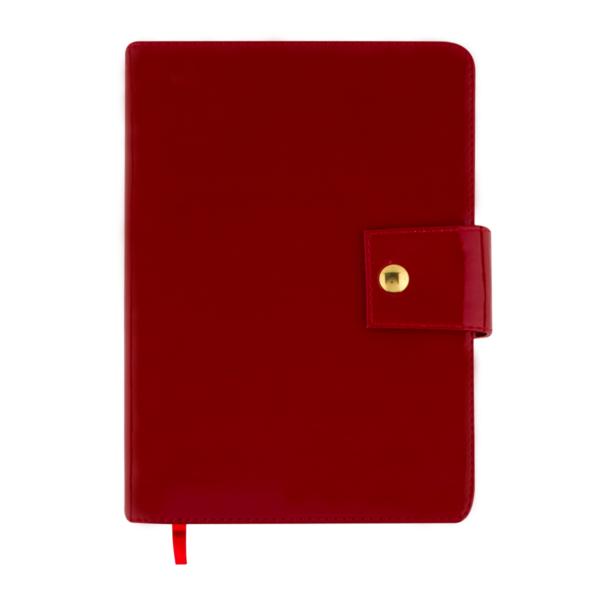 Ежедневник А5 датированный 2019 DREAM красный, на кнопке