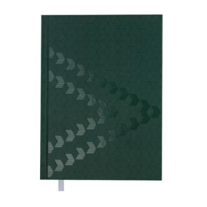 Ежедневник А5 датированный 2019 MONOCHROME зеленый, твердая обложка
