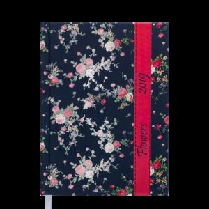 Ежедневник А5 датированный 2019 PROVENCE темно-синий, твердая обложка