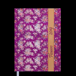 Ежедневник А5 датированный 2019 PROVENCE розовый, твердая обложка