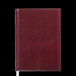 Ежедневник А5 датированный 2019 VELVET твердая обложка, бордовый