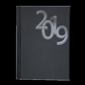 Ежедневник А5 датированный 2019 OFFICE твердая обложка, черный