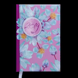 Ежедневник А6 карманный датированный 2019 ESTILO малиновый