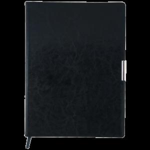 Ежедневник 2019 А4 SALERNO датированный черный, кремовый блок, гибкая обложка