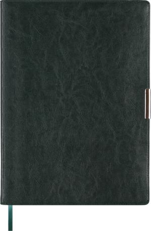 Ежедневник 2019 А4 SALERNO датированный зеленый, кремовый блок, гибкая обложка