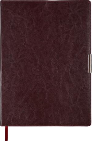 Ежедневник 2019 А4 SALERNO датированный бордовый, кремовый блок, гибкая обложка