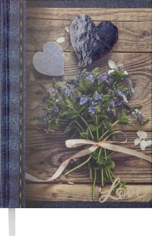 Ежедневник А5 недатированный ROMANTIC темно-синий