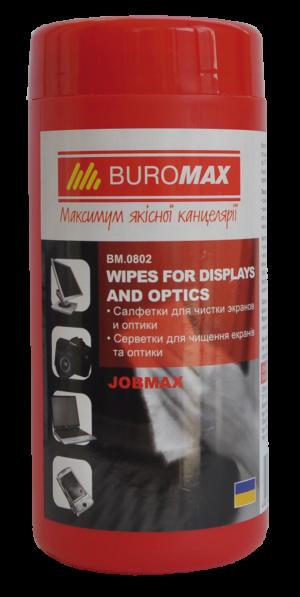 Салфетки влажные для чистки экранов, мониторов и оптики JOBMAX