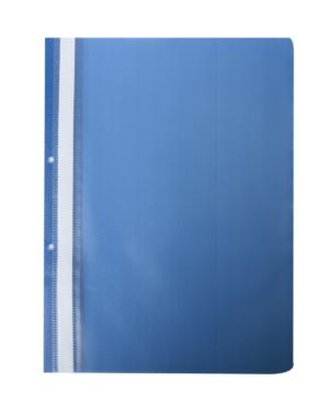Папка пластиковая А4 с прозрачным верхом на 2 отверстия (4 цвета)