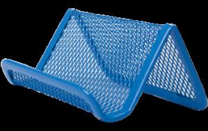 Подставка для визиток, 95х80х45мм, металлическая (син, зел, крас)