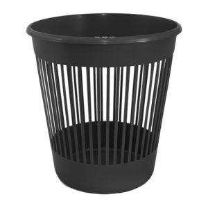 Корзина для бумаг пластиковая, 10л, черная