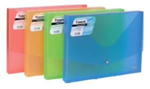 Папка-бокс пластиковая А4 на резинке (4 ярких цвета)
