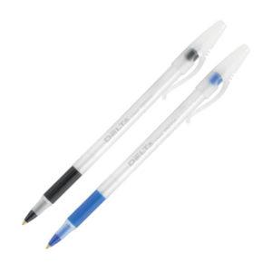 Ручка шариковая DB2054 с резиновым грипом 0,7мм, 2500м, одноразовая