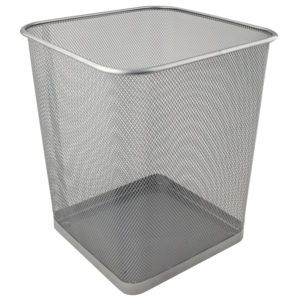Корзина для бумаг металлическая, 270х300мм, квадратная