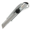 Нож универсальный 18 мм в метал. корпусе с метал. направляющей, винтовая фиксация