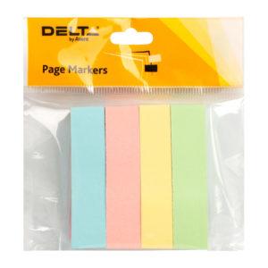 Закладки бумажные с клейким слоем 51х12мм, 400шт, пастельные цвета