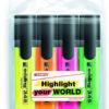 Набор маркеров 4шт Highlighter e-345 2-5мм, клиноподобный