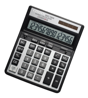 Калькулятор Citizen SDC-760, 16 разрядов