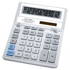 Бухгалтерский калькулятор SDC-888XWH, 12 разрядов, светлый корпус