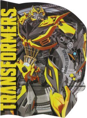Блокнот детский А6, 60 л. Transformers TF15-223K фигурная вырубка