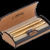 Набор ручек перо+роллер R68001.L.RF в подарочном футляре, золото