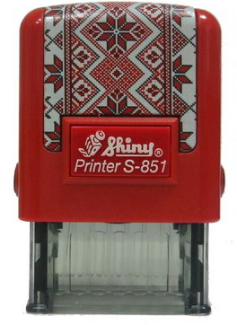 Оснастка для штампа 26х10мм Вышиванка SHINY