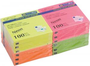 Блок бумаги с клейким слоем 76х76мм НЕОН
