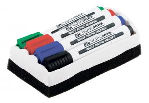 Набор маркеров для магнитных досок c губкой