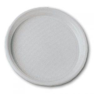 Тарелка пластиковая d-17см, 100шт, белая