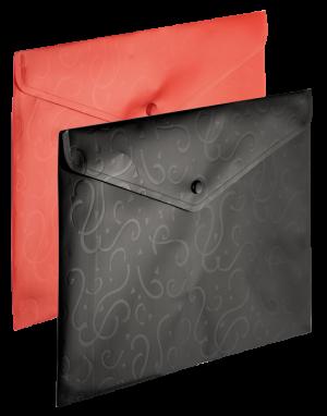 Папка-конверт на кнопке А4 Red&Black