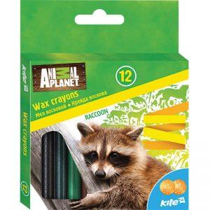 Мелки восковые, 12 цветов Animal Planet AP16-070