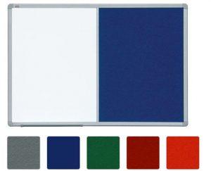 Доска комбинированная маркер/текстиль в рамке ALU23