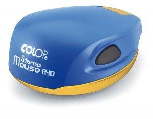 Оснастка карманная для печати d-40мм Stamp Mouse, сине-желтый корпус