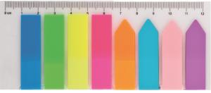 Закладки пластиковые с клейким слоем 8х25шт