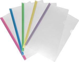 Папка пластиковая А4 с планкой-зажимом, 8мм, 2-50 листов