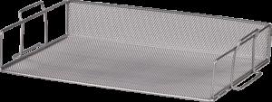Лоток горизонтальный, 355х245х80мм, металлический