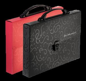 Портфель пластиковый А4, 1 отделение Red&Black