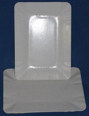 Тарелка паперова 14х20см, 100шт, белая