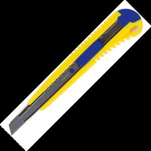 Нож универсальный 9 мм в пласт. корпусе с метал. направляющей
