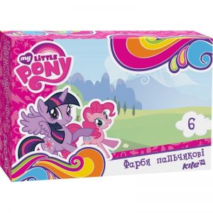 Пальчиковые краски 6 цветов, 35мл. Little Pony LP17-064