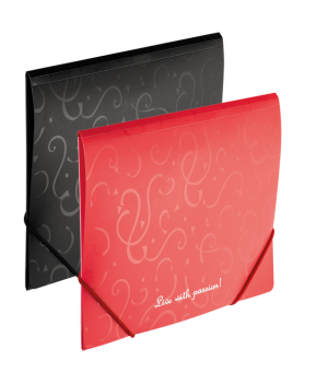 Папка пластиковая А5 на круглой резинке, серия Red&Black (маленькая!!!)