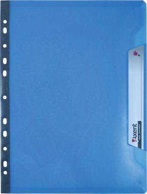 Файл-уголок А4, 200мкм, вместимость до 50листов, сменный индекс