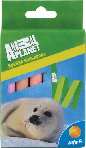 Мел цветной цилиндрический 12шт. Animal Planet AP15-075K