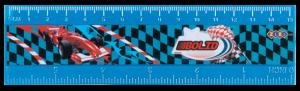 Линейка 15 см Bolid пластиковая, синяя