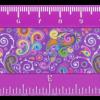Линейка 15 см Ornament пластиковая, фиолетовая