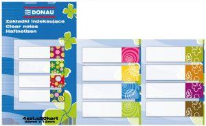 Закладки пластиковые с клейким слоем 45х12мм, 80шт с рисунком