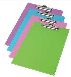 Планшет А5 (маленький!!!), покрытие PVC, зубчатый прижим, яркие цвета